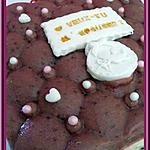 recette Bavarois chocolat blanc, framboises/grenades