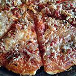 recette pizza oignons poivron