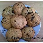 recette Cookies aux deux chocolats