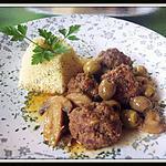 recette boulettes de viande aux olives et champignons