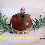 recette Mousse d'aubergines sur sablé au romarin
