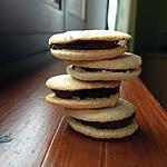 recette Macarons avec ganache au chocolat (mes premiers).