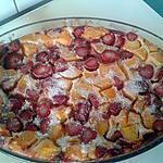 recette Clafoutis pêches,fraises