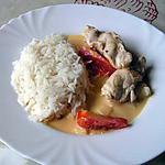 recette Emincé de poulet à la crème et au vin blanc