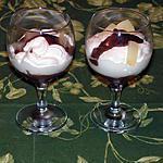 recette Triffle au poires sauce chocolat