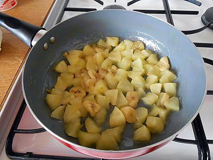Tarte pomme banane rhubarbe
