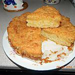 recette Gâteau moelleux aux pommes et croustillant noix de coco