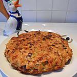 recette Omelette au four aux poireaux, lardons fumés et maroilles.