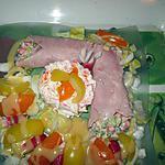 recette assiette      cornet  jambon  macédoine   et la bourrache