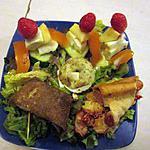recette assiette avec une recette de rosinette,,; galette  andouille marrons  ,