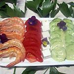 recette Plateau de crudités. crevettes. feta.4.