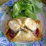 recette Feuilleté au chèvre et à la tomate