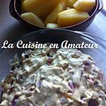 recette Andouillette sauce au cidre, moutarde figues et miel, mascarpone