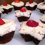 recette Muffins chocolat noisette, nappage chocolat blanc