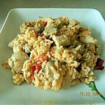 recette Filet de poulet au riz tomates et champignons