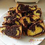 recette Quatre quart marbré au chocolat