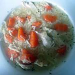 recette Un peu de légèreté réconfortante : Soupe de poulet