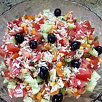 recette Salade de riz colorée