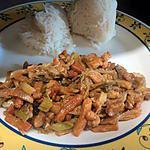 recette wok de porc sauté et c est legume