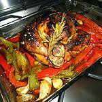Poulet rôti aux poivrons et romarin