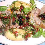 Tete de veau avec langue vinaigrette aux tomates séchées