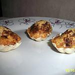 recette madeleine à la cannelle et ses pincées de cacao en coque blanche