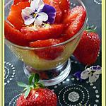 recette Tarte citron fraises en verrine