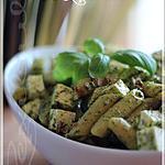 recette ~Salade de pâtes à la feta et au pesto~