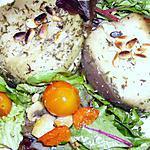 recette Fondant d'aubergine au fromage de chèvre et aux pignons