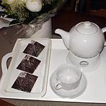 recette petite pyramide en chocolat ,fourrée de mousse de framboise