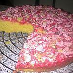 recette ~Tarte briochée aux pralines roses~