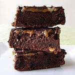 recette Brownies aux cacahuètes et au caramel façon Snickers