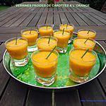 recette VERRINES FROIDES DE CAROTTES A L' ORANGE