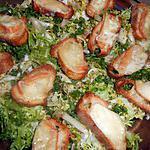 recette frisée petits croutons au maroilles