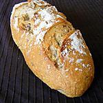 recette Pain au kamut, farine de céréales, lin et noisettes sur poolish