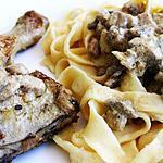 recette Poulet au riesling et tagliatelle alsacienne