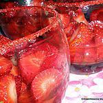 recette SOUPE DE FRAISES AU PARFUM  D'ORANGE