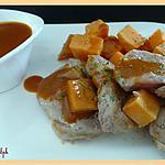 recette Filet mignon aux patates douces, sauce porto
