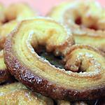 Palmiers au sucre et beurre de cacahuètes