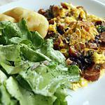 recette Omelette aux fleurs de ciboulette