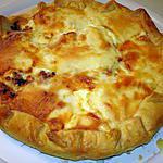 recette quiche p de terre , oignon ,lardons et fromage à raclette