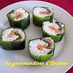 recette SUSHIS AUX POIREAUX,  SAUMON MARINE A L'ANETH