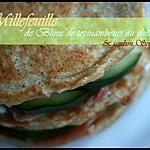 recette ** Millefeuilles  de Blinis de topinambours au chèvre & jambon serrano....  **