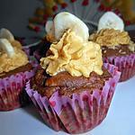 recette Cupcake banane chocolat ganache monté caramel beurre salé