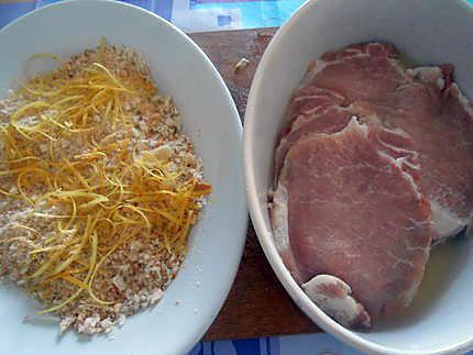 Escalopes de poulet panées au citron  430
