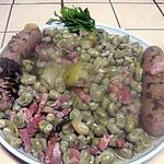 recette Saucisses de Toulouse aux fèves.