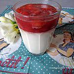 recette Panna cotta à la fraise