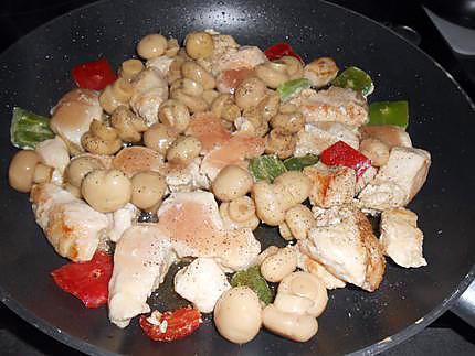 Poulet sauce curry et champignons 430
