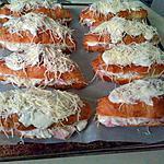 recette Croissants gratinés au jambon (photo avant cuisson)