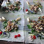 recette assiette fruits de mer    et asperges  champignons de  félicia  et idée de kadérik